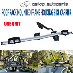 Aluminium-Alloy-Roof-Rack-Mounted-Frame-Holding-Bike-Bicycle-Carrier-Lockable