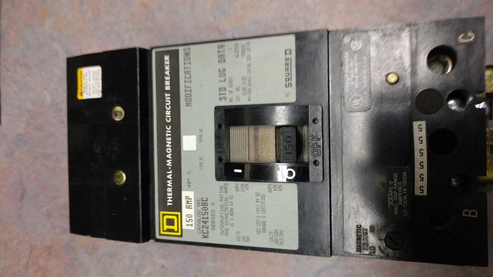 Square D I-Line KC24150BC 150 Amp Circuit Breaker 480V KC S2 2 Pole KC24150 150A