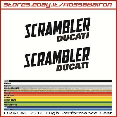 Kit 2 Adhesives Ducati Scrambler Mm100x36 Stickers Aufkleber Pegatinas Decals Ebay