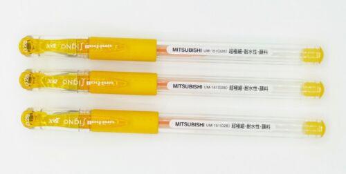 Uni-ball 151-0.28 roller gel pen 3pcs GOLDEN YELLOW I