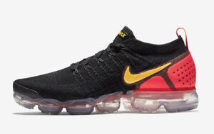9e372d61cb2 Nike Air Vapormax Flyknit 2 Black Laser Orange Size 10. 942842-005 ...
