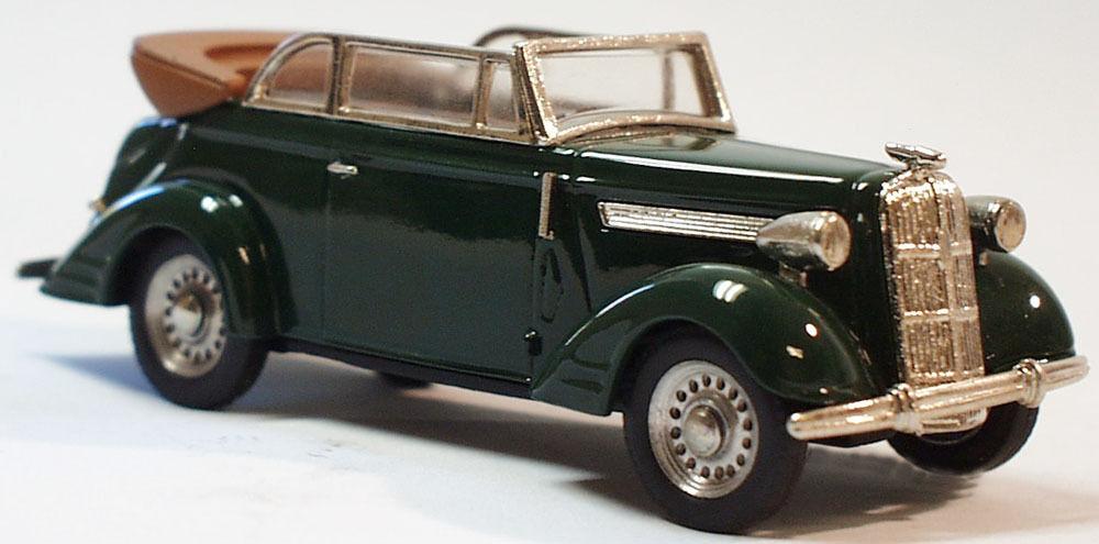 OPEL SUPER 6 Cabriolet modello auto fatto a mano piccole serie biancametal 1/43 tw310-3