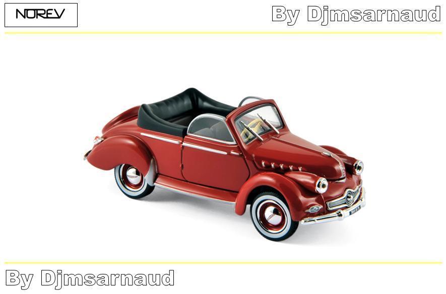 Panhard Dyna X Cabriloet de 1951 rouge NOREV - NO 451803 - Echelle 1 43
