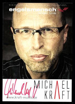 Michael Kraft Autogrammkarte Original Signiert ## Bc 47223 Durchsichtig In Sicht Musik National