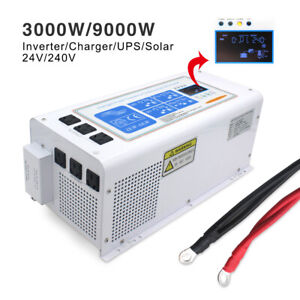 3000w-9000w-pure-sine-wave-power-inverter-DC-24v-to-AC-240v-UPS-Solar-Charger