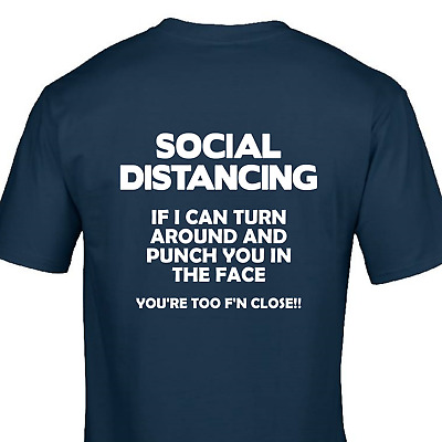 Tshirt Social Distancing If can read this i can punch you in the face