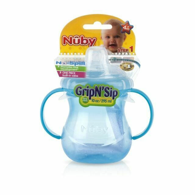 Handle 2 Soft Spout 10 Oz 300ml Nuby Grip N Sip Cup 6m