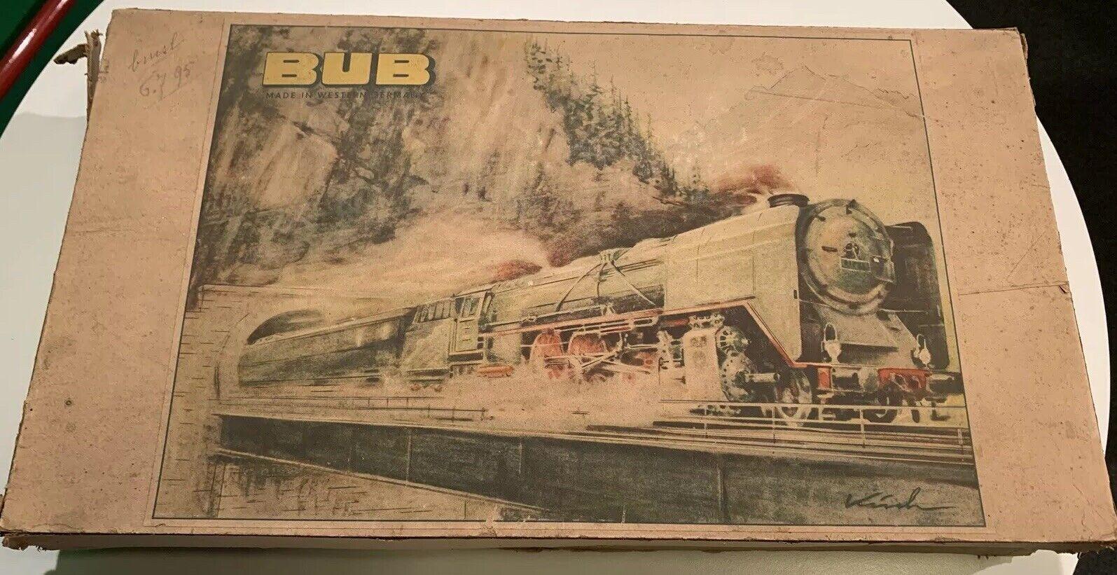 SET BUB Trenino Elettrico anni '50- Solo Binari E Trasformatore- Vintage