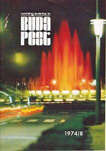 Coming events a Budapest 1974/8, libretto di informazione per events a Budapest