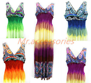 Plus Size Urban MAXI Style Lady Dress Colorful Sundress(New York ...