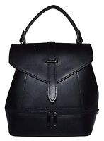 Firenze Italia Women's Leather Small Convertible Satchel Backpack Black
