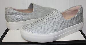 JSlides J Slides Ariana Light Grey Snake Embossed Slip On Sneaker ... 49bfdd0918f9