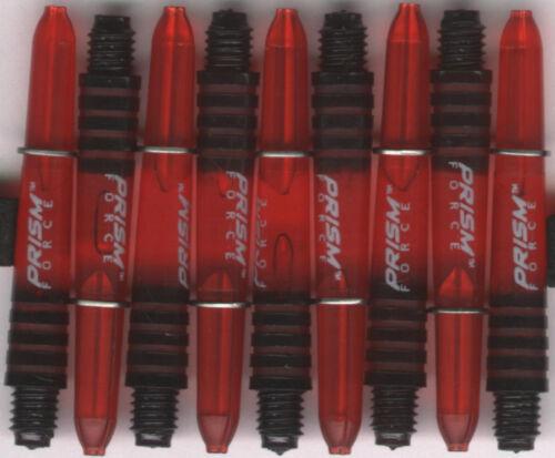 1 set of 3 2ba Red WINMAU Prism Force Dart Shafts /& Rings 1.5in