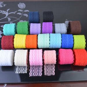 White-Elastic-Stretch-Lace-Trim-Ribbon-Sewing-Fabric-DIY-Decor-Crafts-Cheaper