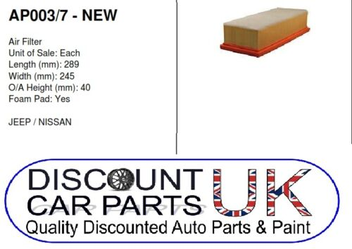 4.0 4x4 PETROL 04//99-09//05 Air Filter to Suit GRAND