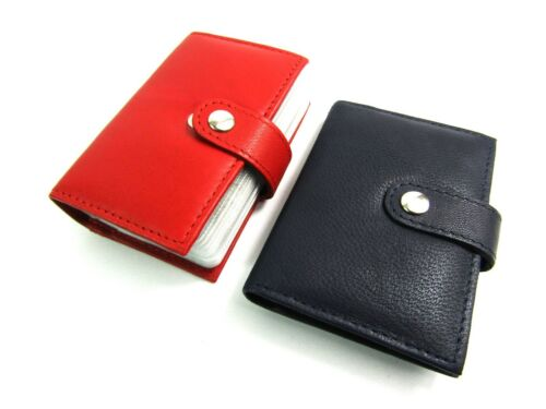 New RFID Blocking Protected Credit Card Holder Wallet Purse Pouch Real Leather