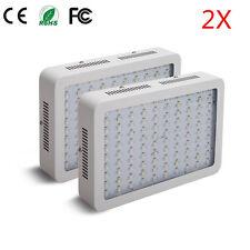 2PCS 1000W LED Grow Light Full Spectrum IR UV Veg Flower Indoor Plant Panel