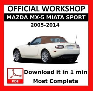 MANUALE PER OFFICINA UFFICIALE />/> servizio di riparazione MAZDA mx-5 MIATA Tettuccio SPORT 2005-2014