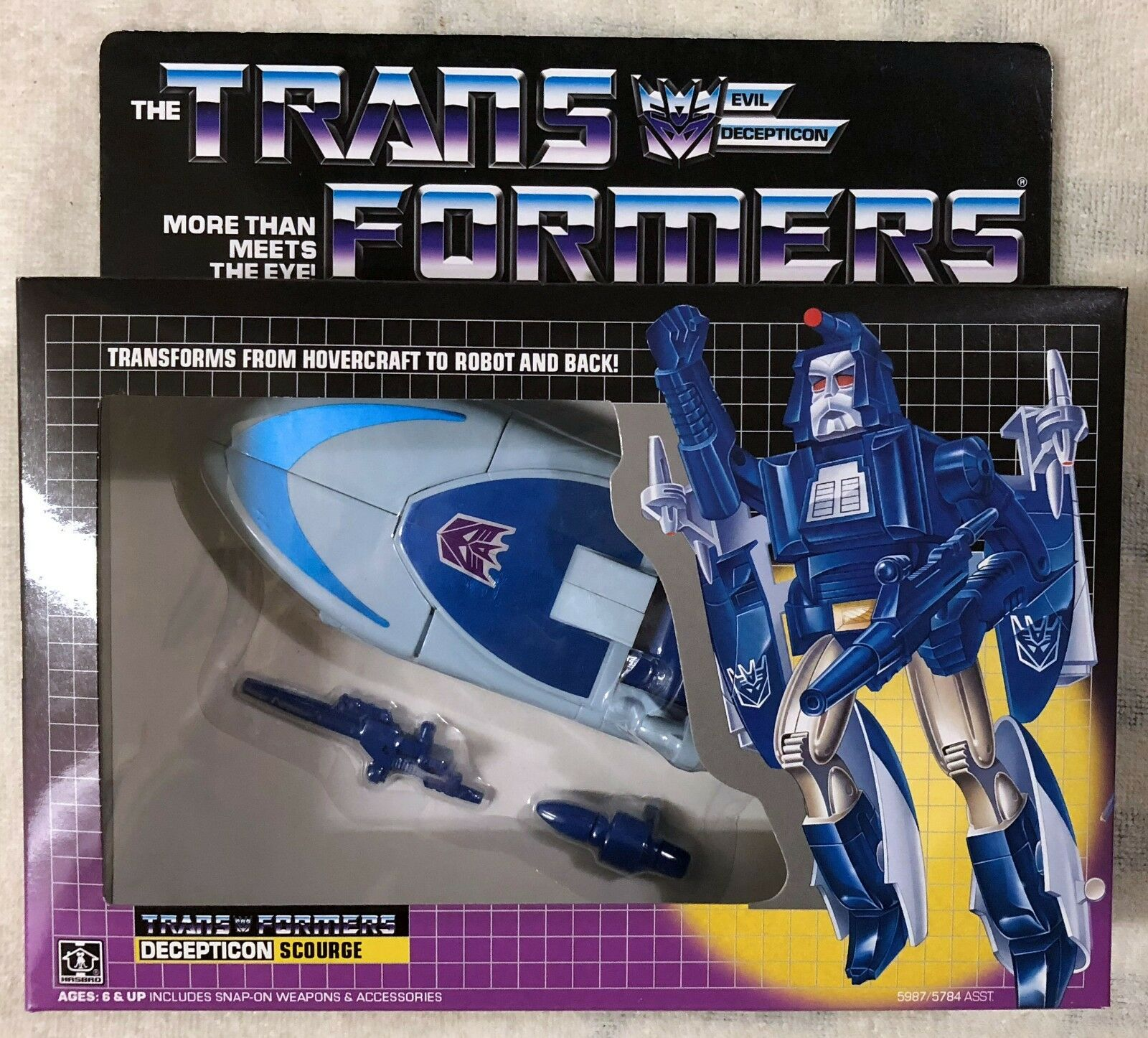TRANSFORMERS G1 DECEPTICON SCOURGE SCOURGE SCOURGE MISB  US SELLER RARE  d70bfe