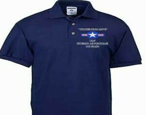PETERSON AIR FORCE BASE COLORADO USAF EMBROIDERED POLO SHIRT/SWEAT/JACKET.