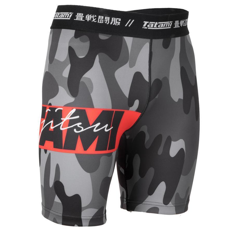 15d06833af Tatami Red Bar Camo BJJ MMA Vale Tudo Shorts Mens Jiu Jitsu No-Gi  Compression