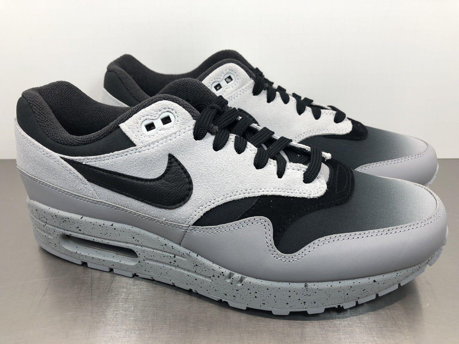 Nike Air Max 1 Premium Mens shoes Size 9 Platinum Black Wolf Grey 875844 003