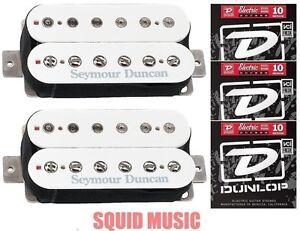 Seymour-Duncan-TB-4-JB-Trembucker-SH-2n-Jazz-Hot-Rodded-Humbucker-White-STRINGS