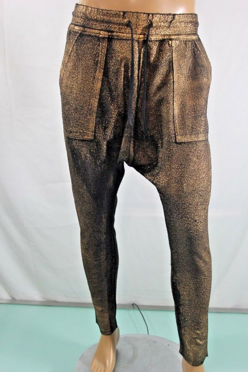 Real American Robin's Jean Pants New Men's gold-coated jogger jeans. SZ M