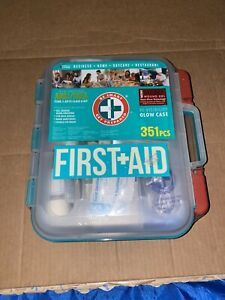 First Aid Kit Complete (351 PCS) Exceeds OSHA/ANSI/ISEA Glowing Hard Case *NEW*