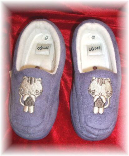 Clearance-BAMBINO Carino cat-lilac Pantofole Nuovissimo Con Etichette Taglie 10 /& 11