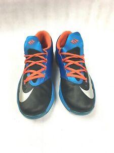 e55c6539f3c9 NIKE KD VI AWAY Kevin Durant OKC Sneakers Black Orange Blue Boys 5.5 ...