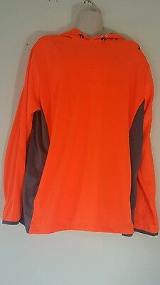 NWT Under Armour  Basketball Fitted Hoodie Orange 2XL  Shirt / Light Jacket