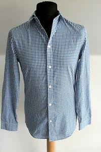 H&M Slim Fit Hemd Gr.S blau-weiß gestreift