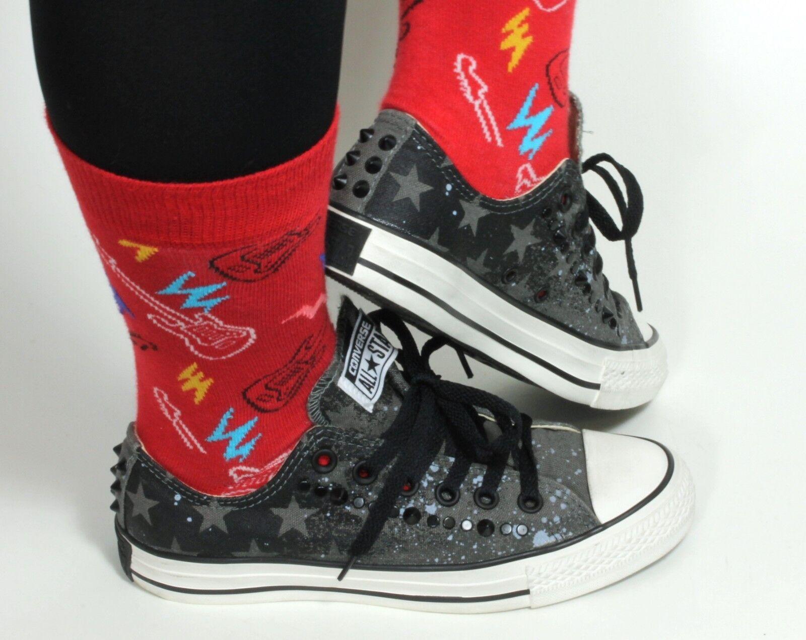 Converse All Star Turnschuhe Sneaker Low Top Damenschuhe Chucks Army Nieten 37