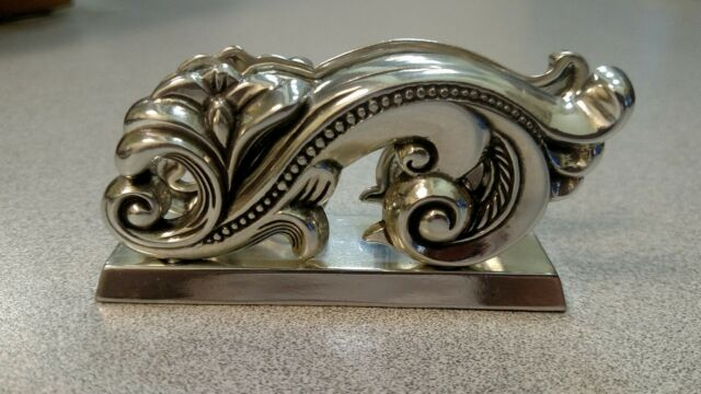 Business card holder collection on ebay brighton silver plated swirl business card holder for desktop lovely colourmoves