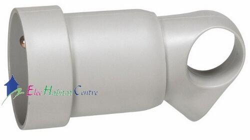 Prolongateur plastique 2P+T 16A gris à anneau Legrand 50425