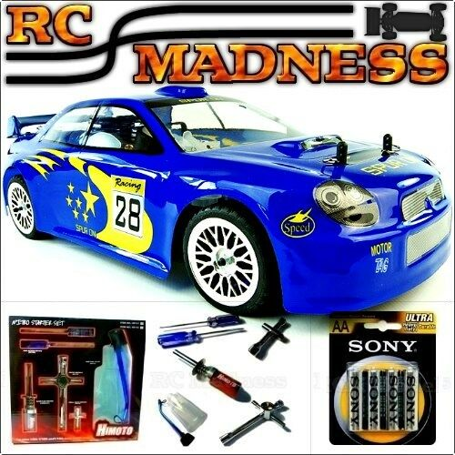 Nitro RC Subaru Car Race Rally Drift Radio Remote Control Petrol Fast On-Road UK