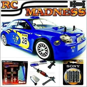 Nitro Rc Subaru Voiture Race Rally Drift Radio Télécommande Télécommande Essence Rapide Uk