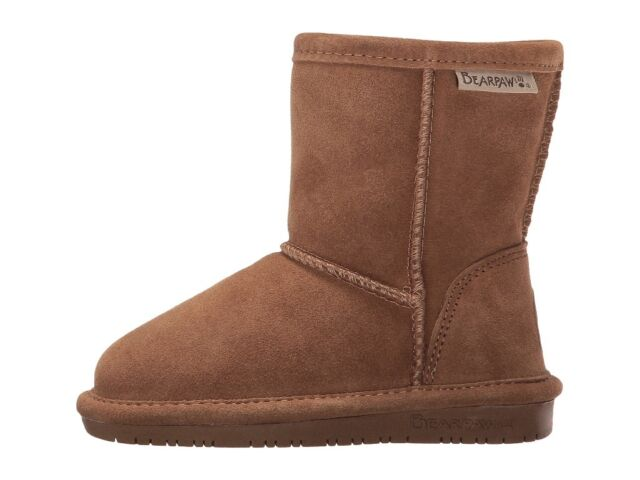 Toddler Bearpaw Emma Boot 608T Zipper Hickory II Suede 100/% Authentic Brand New
