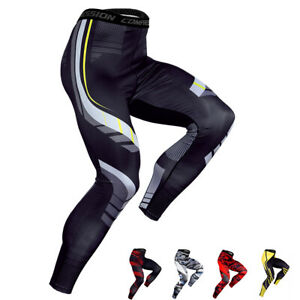 Mens-Compression-Long-Athletic-Tight-Underwear-Pants-Legging-Sport-Gym-Training