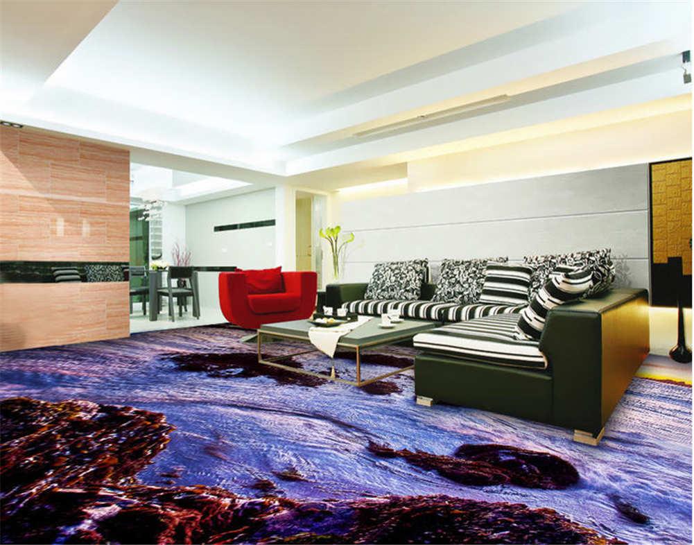 Die Szene Habe.3D Fußboden Wandgemälde Foto Bodenbelag Tapete Zuhause Dekoration