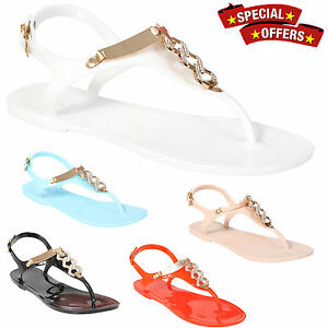 LADIES-WOMENS-RETRO-FLAT-JELLY-BEACH-SANDALS-SUMMER-GIRLS-FLIP-FLOPS-SHOES-SIZE
