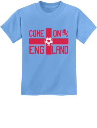 Come On England Soccer Fans UK Flag Youth Kids T-Shirt UK Team