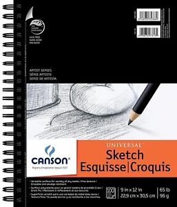 Canson-Artist-Series-9x12-Universal-Sketch-Pad-Drawing-Paper-Spiral-Book-FREE