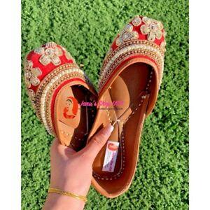 US Size 5-10 Punjabi jutti Indian khussa flat shoes Womens shoes mojari Sandal