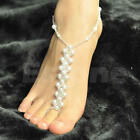 Bridal Beach Pearl Barefoot Sandal Foot Jewelry Anklet Bracelet Ankle Chain