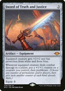 1-Sword-of-Truth-and-Justice-Artifact-Modern-Horizons-Mtg-Magic-Mythic-Rare-1x