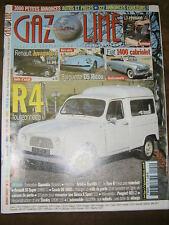 Gazoline N° 142 2008 Automobile retro R4 fourgonette Barquette DS Ricou Fiat