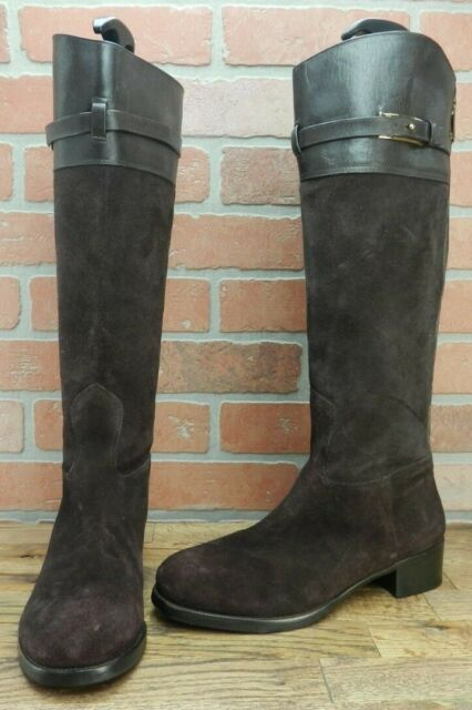 3c6b9032828 Tory Burch Miller Pull-on Riding Boots Size 9.5 M  498 Brown Suede ...