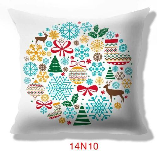 """On Sale!18/"""" Christmas Theme Pillow Case Sofa Car Throw Cushion Covers Home Decor"""